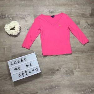 Ralph Lauren Sport women's pink blouse